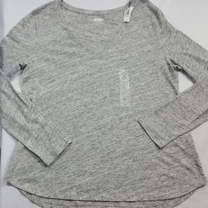 🔥NWT Old Navy Grey Heathered Everywear Top